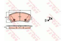 4x TRW Pastillas de Freno Delanteras GDB2152