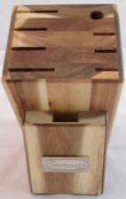 Cuisinart 9 Slot Knife Cutlery Block Blonde Butcher Block Wood