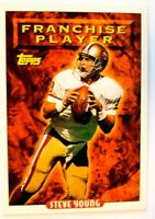 1993 TOPPS 49ERS STEVE YOUNG FRANCHISE PLAYER  GOLD PARALLEL CARD #88