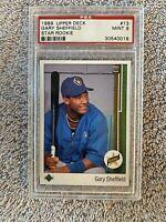 1989 Upper Deck Star Rookie RC Gary Sheffield PSA 9