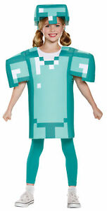 Minecraft Armor Classic Child Costume 3D Blocky Shaped Tunic Halloween Disguise