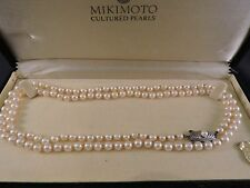 Mikimoto Pearls Authentic Signed M Logo on clasp OPERA 80cm