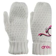 Gants et moufles blancs en acrylique pour femme
