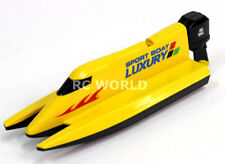 Remote Control RC Micro F1 SPEED BOAT MINI RC Formula Boat - YELLOW - 2.4GHz