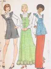 70s Vintage Butterick 6973 Sewing Pattern Misses Jumper Tunic & Pants Uncut 14