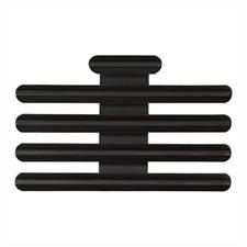 "Vanguard Ribbon Mounting Bar: 13 Ribbons - Black Metal 1/8"" Spacing"