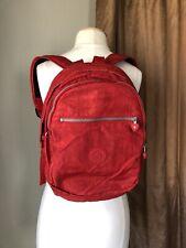Kipling Red Backpack Medium size Shimmer Red