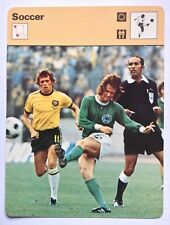 Sportscaster Card Edition Rencontre 1974 World Cup Wolfgang Overath West Germany