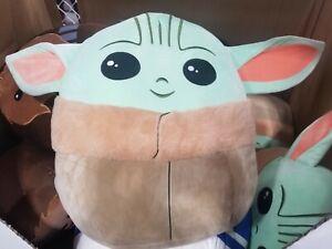 "Star Wars Baby Yoda the Child 20"" Squishmallow the Mandalorian Plush Pillow"