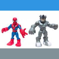Marvel Playskool Heroes SPIDERMAN -&- RHINO Action Figures | Loose | Free S&H !