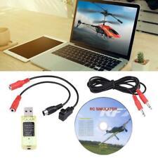 Per Realflight G7/G6/G5 Phoenix 4 E2HG 22 in 1 RC Simulatore USB CON CAVI #GD
