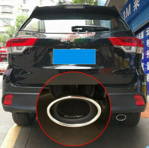 For Toyota Highlander 2015-2019 Stainless Rear Exhaust Muffler Tip End Pipe Trim