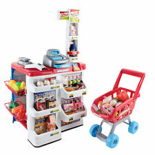 24pcs Kids Pretend Role Play Set Supermarket Food Children Toy Trolley