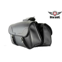 Motorcycle Saddle Bags Black, Heavy Duty Waterproof Throw Over Luggage Bag Cases