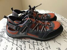 EDDIE BAUER Crusade Men's Hiking Bungee Sport Shoes Size 9 M Orange / Gray