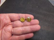 14K Yellow Gold Tiger's Eye  Earrings