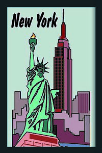 New York Statue of Liberty Empire Mirror Wall Mirror BAR Party Basement BAR