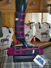 NWT TOKLAT ORIGINALS NEOPRENE Horse Splint Boots BURGUNDY Sz MEDIUM