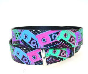 Zac's Alter Ego® Multicolour Printed Design PU Belt - Fun & Trendy Prints