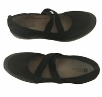 White Mountain Womens Shoes Black Size 11M Medium Slip On Straps Summer Comfort