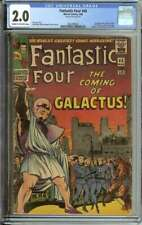 FANTASTIC FOUR #48 CGC 2.0 CR/OW PAGES