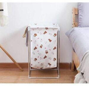 Collapsible Water Proof Laundry Basket Dirty Clothes Hamper Oxford Cloth