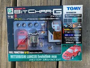 Tomy Tomica  Bit Char G Mitsubishi Lancer Evolution Red 35Mhz