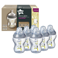 6 Tommee Tippee Baby Feeding Bottles Closer Nature 260ml Decorated Ollie the Owl
