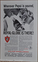 1965 ROYAL-GLOBE advertisement, insurance, Pepsi-Cola Company, Pepsi bottles