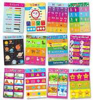 Educational Alphabet Poster for Toddlers Kids  Room Kindergarten Decor (14pcs)