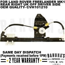 LAND ROVER FREELANDER 1998>2006 REAR RIGHT SIDE ELECTRIC WINDOW REGULATOR *NEW*