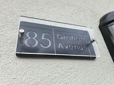 Premium House Signs Plaques Door Numbers 1 - 999 Personalised Name Plate