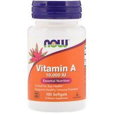 NOW Foods - Vitamin A, 10.000iu x 100 Softgels
