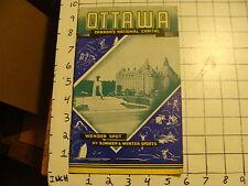 Vintage Travel Paper: OTTAWA; CANADA'S NATIONAL CAPITAL