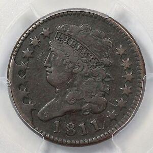 1811 C-1 PCGS VF Details 4 Star Classic Head Half Cent Coin 1/2c