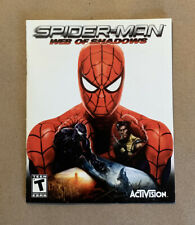 Spider-Man Web of Shadows PS3 ***MANUAL ONLY!!  NO GAME DISC*** Fast Shipping!