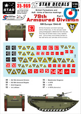 Star Decals, 35-969 British 79th Armoured Division #1. Formations , SCALE 1/35