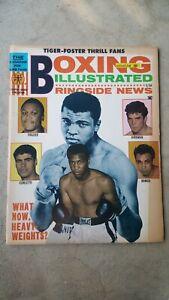 Vintage Boxing Illustrated + Ringside News Magazine: Aug. 1968. Muhammad Ali.