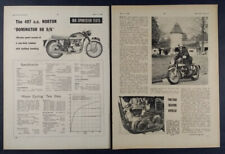 1961 Norton Dominator 88 SS Motorcycle Road Test article clipping