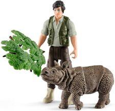 Ranger et Indian Rhinocéros set-Schleich Vie sauvage - 42428-New