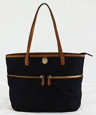 ** MICHAEL KORS KEMPTON Pocket Black Nylon & Leather LG Tote Bag Msrp $138.00