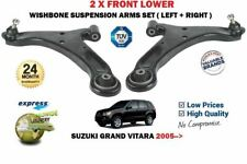 FOR SUZUKI GRAND VITARA 1.6 2.0 1.9DT 2005> 2X FRONT WISHBONE SUSPENSION ARM SET