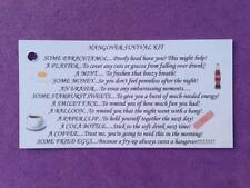 10 x Hangover Survival Kit TAGS, Wedding Favours, Hen/Stag Nights, Party Gift