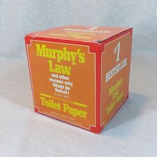 Vintage 1977 Arthur Bloch Murphy's Law Excerpt Toilet Paper - Gag Gift Funny