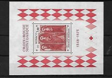 MONACO 1973 RED CROSS MINI SHEET, MNH, MS1072, CAT £29
