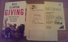 Giving SIGNED Bill Clinton Hardback Book 1st edition 1st impression + proof