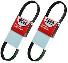 2 piece Drive Belt Set -Alt-AC-Pwr  6PK990 4PK1010 fit 01-05 Honda Civic/  Acura