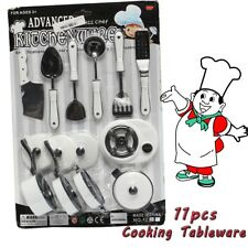1Set 11Pcs Kids Children Kitchen Utensil Accessories Cooking Play Toy Cookware