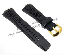 Comp. Seiko Velatura 5D44-0AA0 - SRH006P1 26mm Black Rubber watch Strap / band