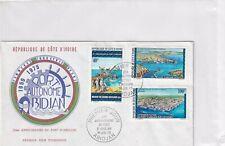 Ivory Coast 473-75 FDC ABIDJAN HARBOUR SHIPYARD 1975 COVER  SHIP